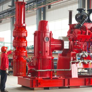 Pompa Fire Diesel - Tipe Vertical Turbine - Fire Fighting System